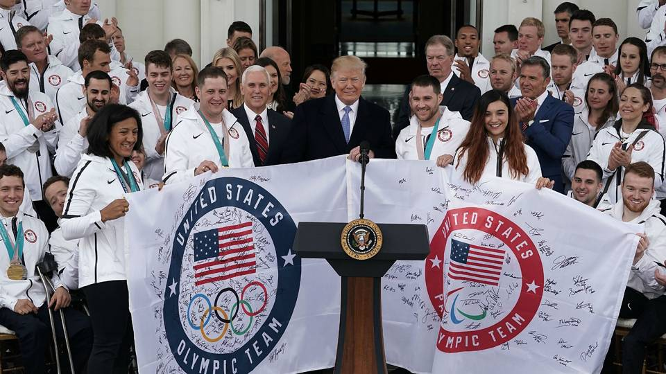 Donald Trump welcomes Team USA at the White Home; many big names opt out