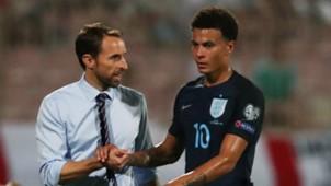 England's Gareth Southgate and Dele Alli