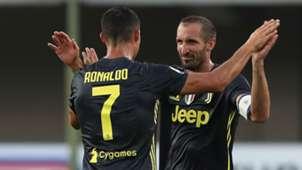 Cristiano Ronaldo and Giorgio Chiellini