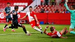 Oscar Trejo scores the decisive goal for Rayo
