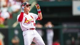 Cardinals outfielder Harrison Bader celebrates