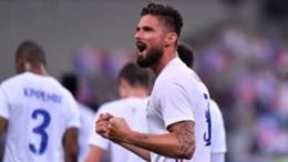 Olivier Giroud celebrates a France goal