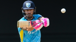 Faf du Plessis, pictured playing for the Saint Lucia Kings, was imperious in the IPL final