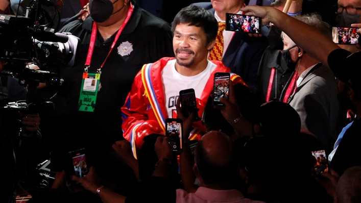 Manny Pacquiao heads to the ring to fight Yordenis Ugas in Las Vegas.