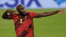 Romelu Lukaku celebrates his goal against the Czech Republic