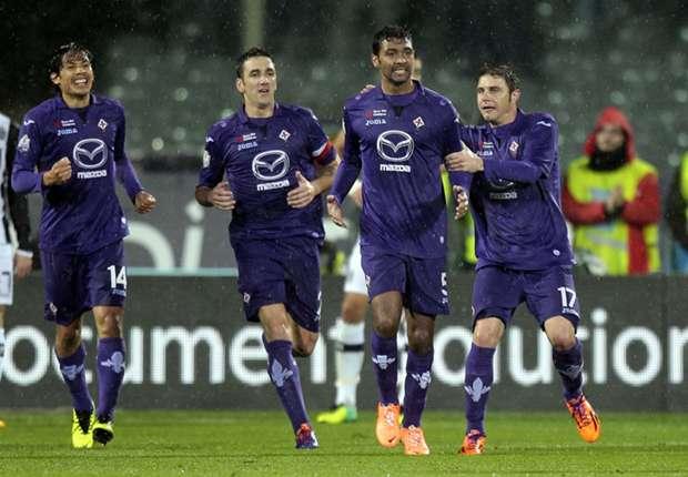 Fiorentina 2-1 Siena: Late Compper show books semi-final berth