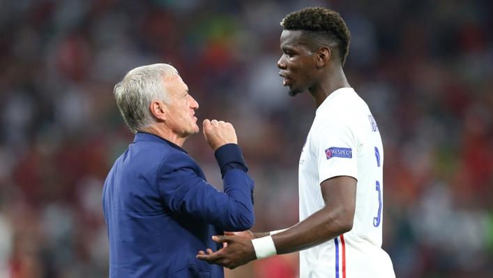 France coach Didier Deschamps and midfielder Paul Pogba