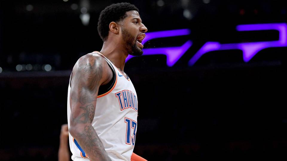 NBA wrap: Paul George ignores boos, scores 37 to lead Thunder past Lakers