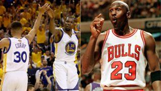 Stephen Curry, Kevin Durant, Michael Jordan