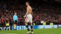 Cristiano Ronaldo celebrates his last-gasp winner against Villarreal