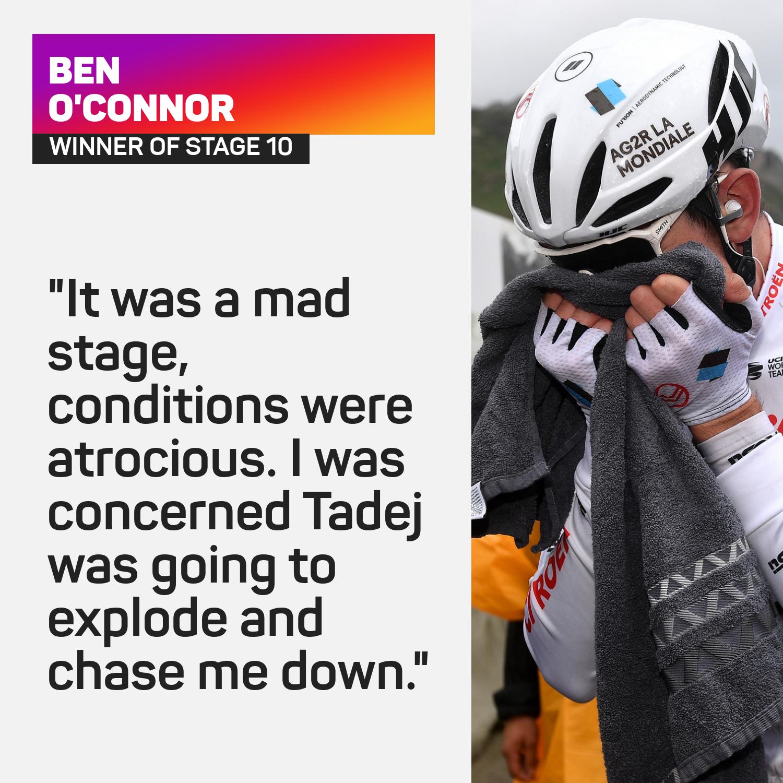 Ben O'Connor won stage 10