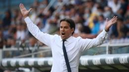 inter boss Simone Inzaghi shows his frustration against Sampdoria