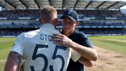 Joe Root embraces Ben Stokes