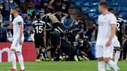 Sheriff celebrate Sebastien Thill's winner against Real Madrid