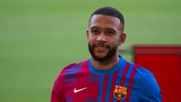 Memphis Depay was unveiled as a Barcelona player on Thursday