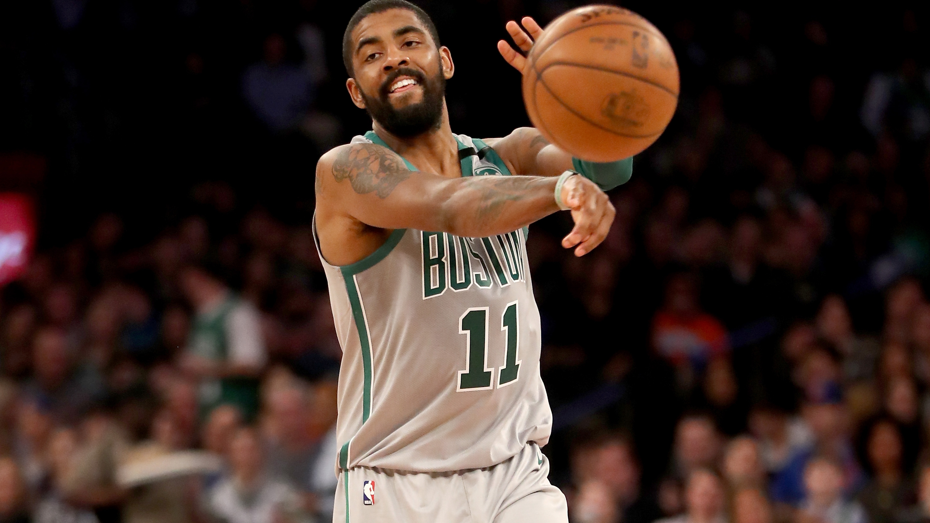Kyrie Irving ignores free agency talk, is happy with Celtics: 'We're pretty f-ing good here'