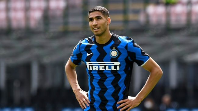 Inter Milan star Achraf Hakimi is being chased by Chelsea, Arsenal and PSG