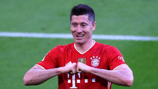 Robert Lewandowski has equalled a Bundesliga record