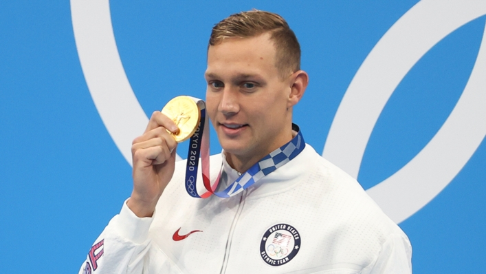 Caeleb Dressel won five gold medals for the United States