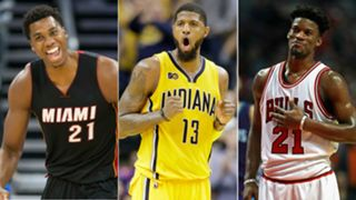 Hassan Whiteside, Paul George, Jimmy Butler