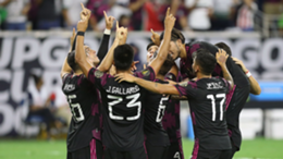 Mexico celebrate at the Gold Cup