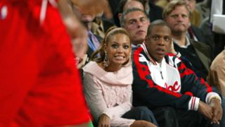 Beyonce and Jay-Z at Rockets game
