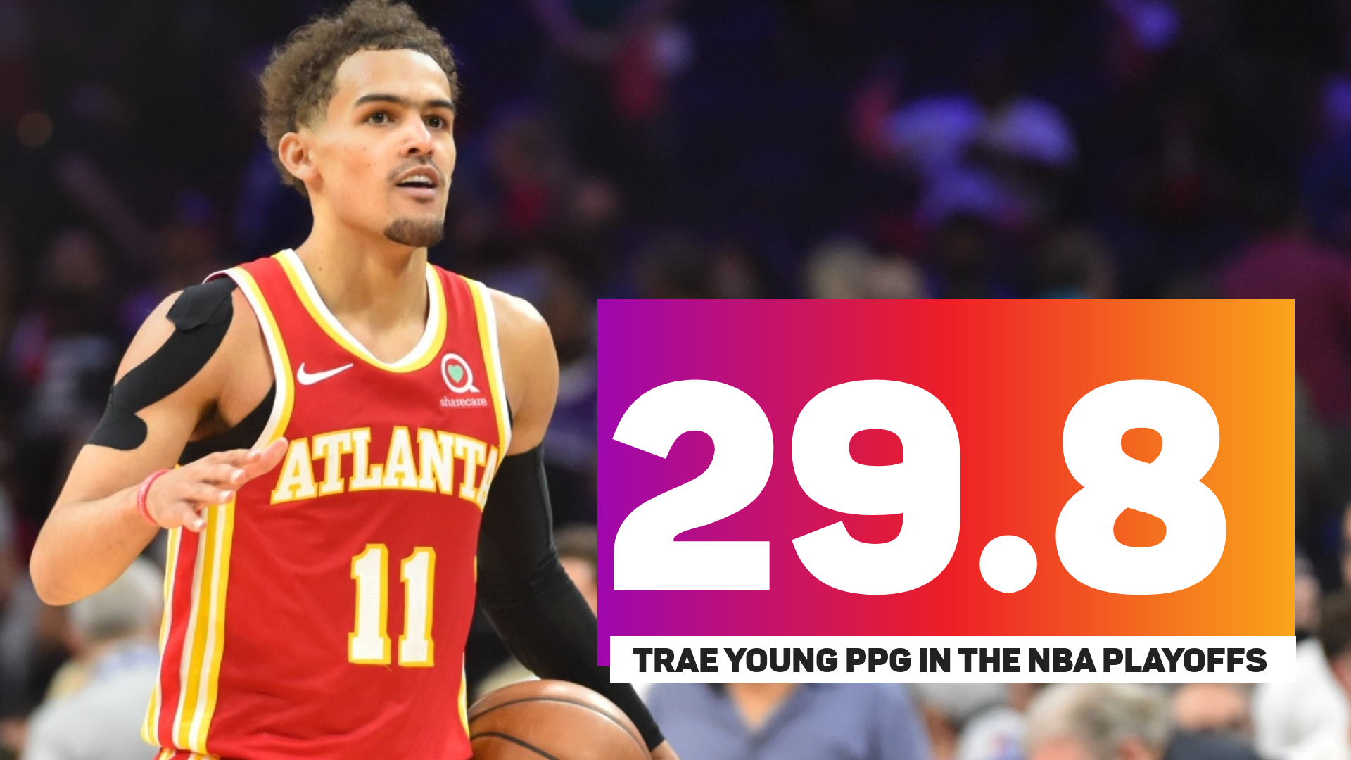 Trae Young NBA playoff numbers