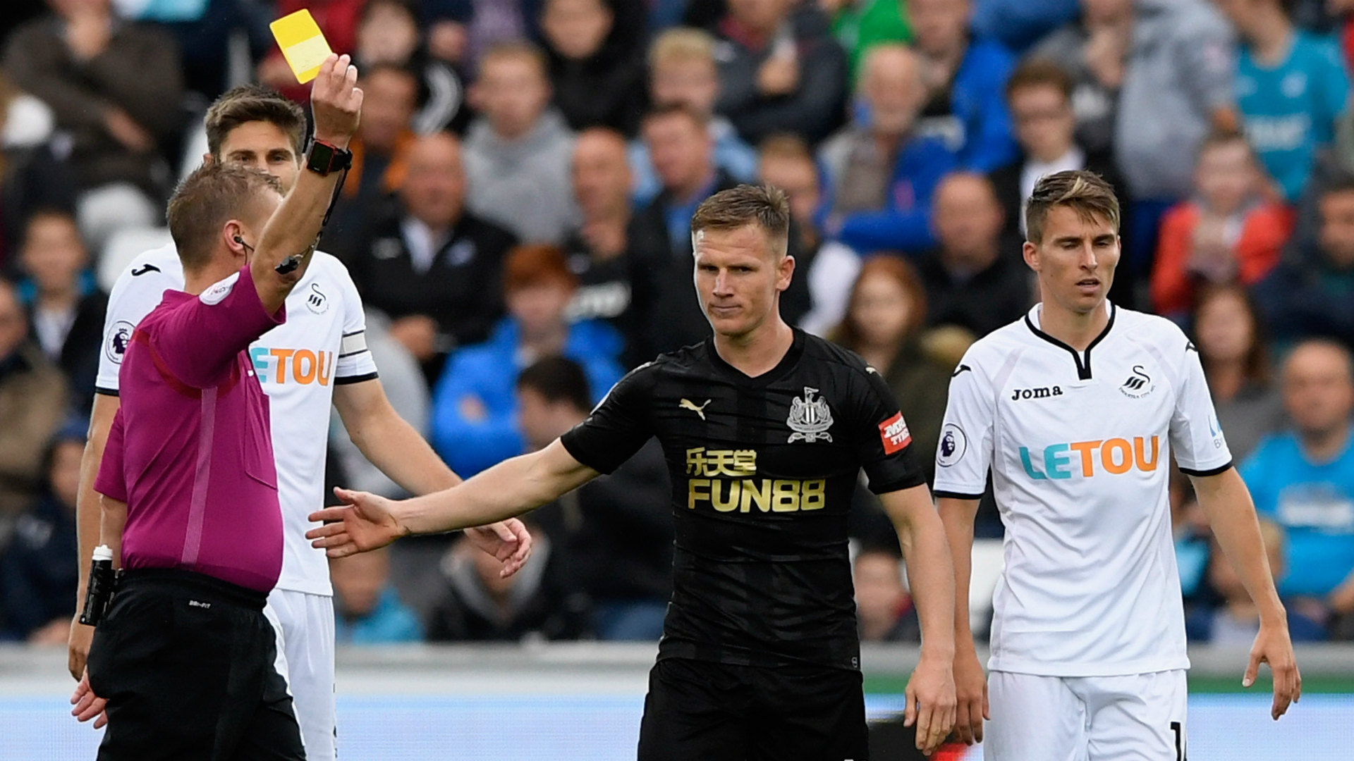 Matt Ritchie: 'I was lucky to avoid red card against Swansea City'