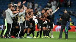 Sheriff celebrate their shock win at Real Madrid