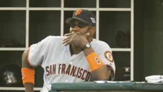 Dusty Baker with the Giants