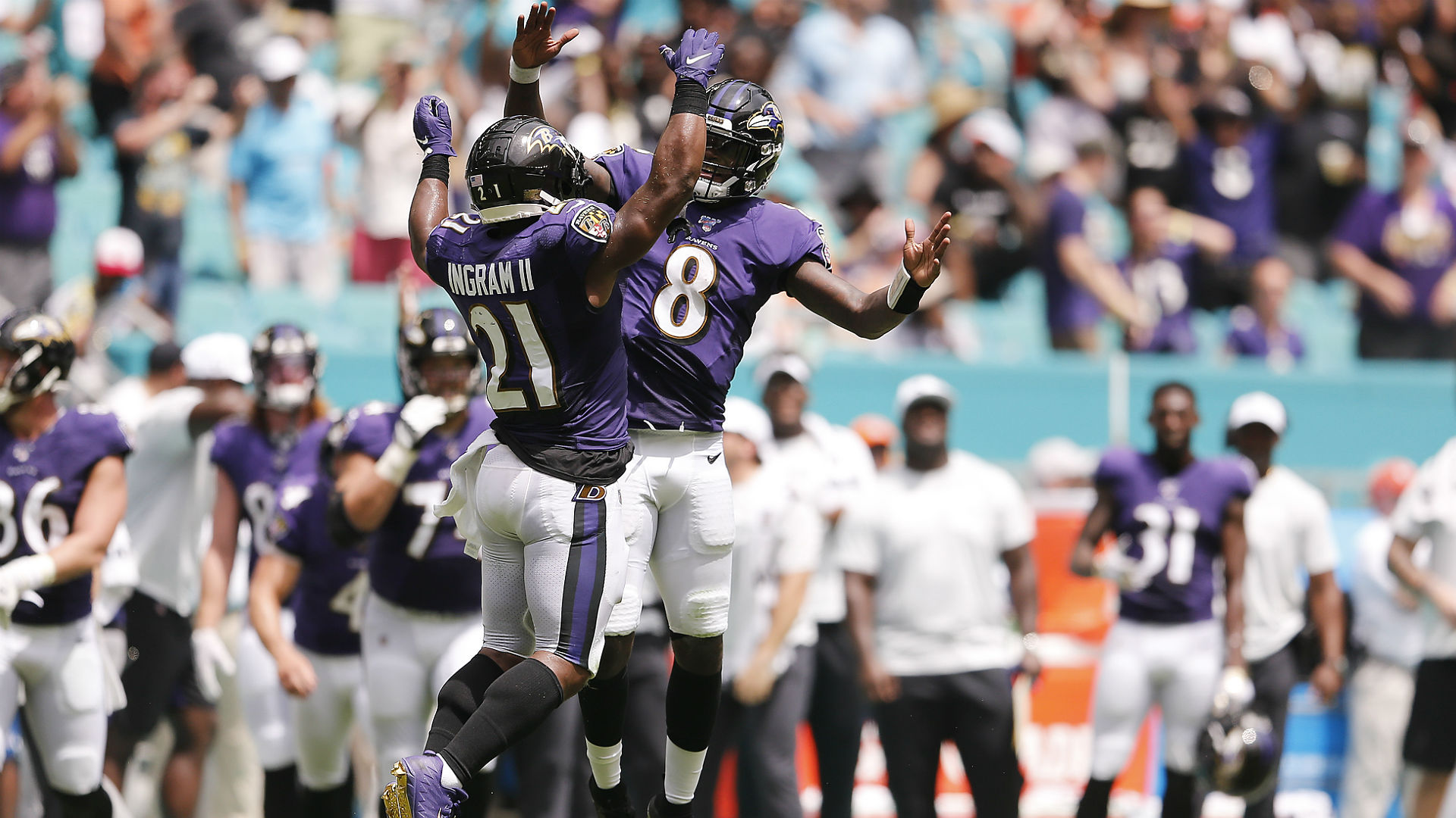 Five crazy stats from Ravens' blowout win over Dolphins