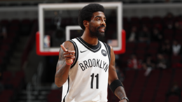 Kyrie Irving in action for the Brooklyn Nets