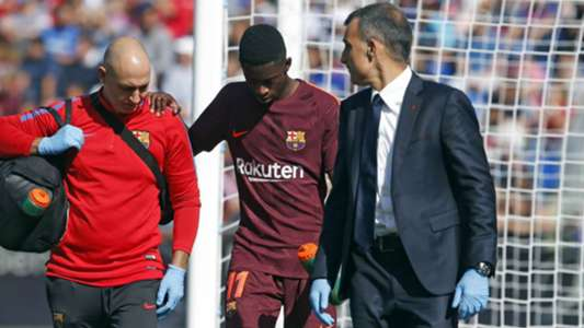 Barcelona fear hamstring tear for injured Dembele