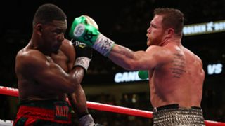 Daniel Jacobs (left) and Canelo Alvarez