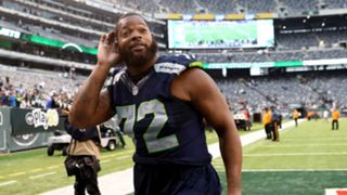Michael Bennett after beating the Jets
