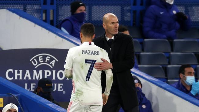 Zinedine Zidane and Eden Hazard