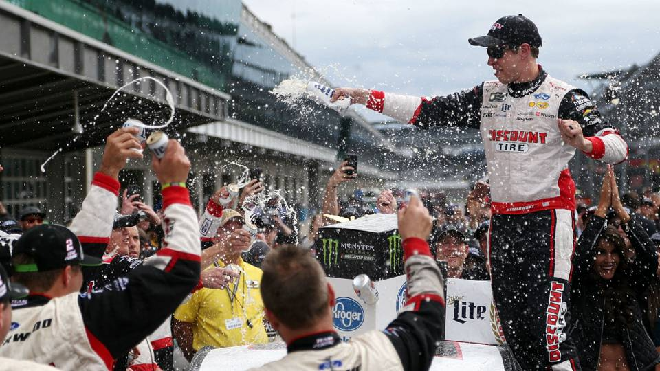 NASCAR results at Indianapolis: Brad Keselowski wins second straight, gives Penske first Cup win at Indy