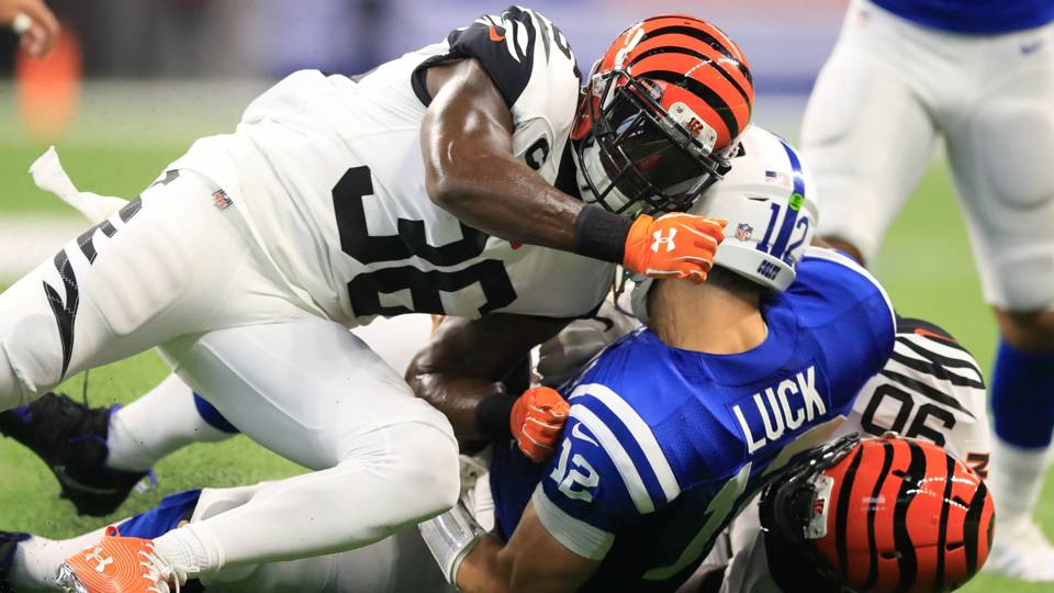 Bengals safety Shawn Williams fined for Sunday's hit on Andrew Luck