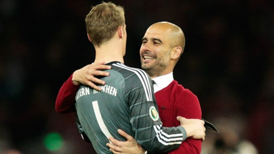 manuel neuer pep guardiola - cropped