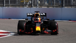 Red Bull's Max Verstappen will start Sunday's race in Sochi from the back of the grid