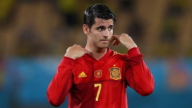 Alvaro Morata had a poor game for Spain