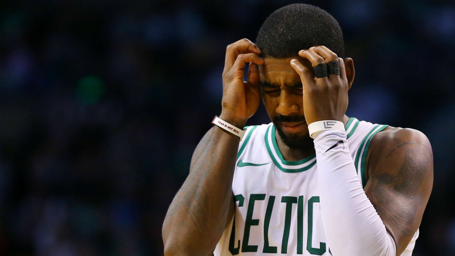 Kyrie Irving leaves Friday's game with possible concussion