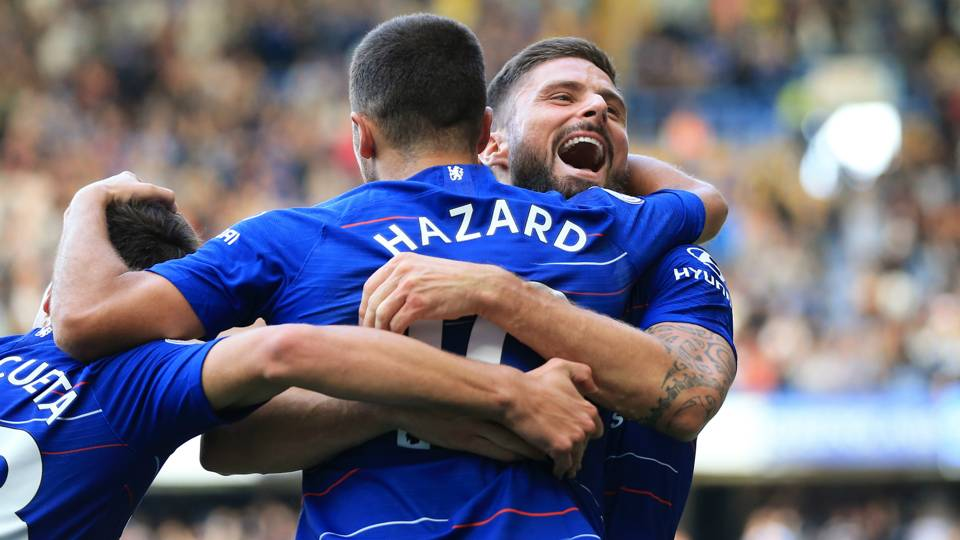 'Giroud the world's best target man' – Hazard heaps praise on Chelsea striker