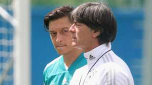 Mesut Ozil and Joachim Low - cropped