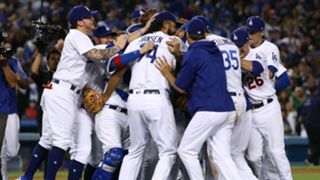 Dodgers celebrate.