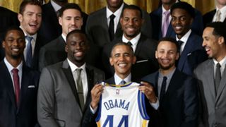 Golden State Warriors with Barack Obama