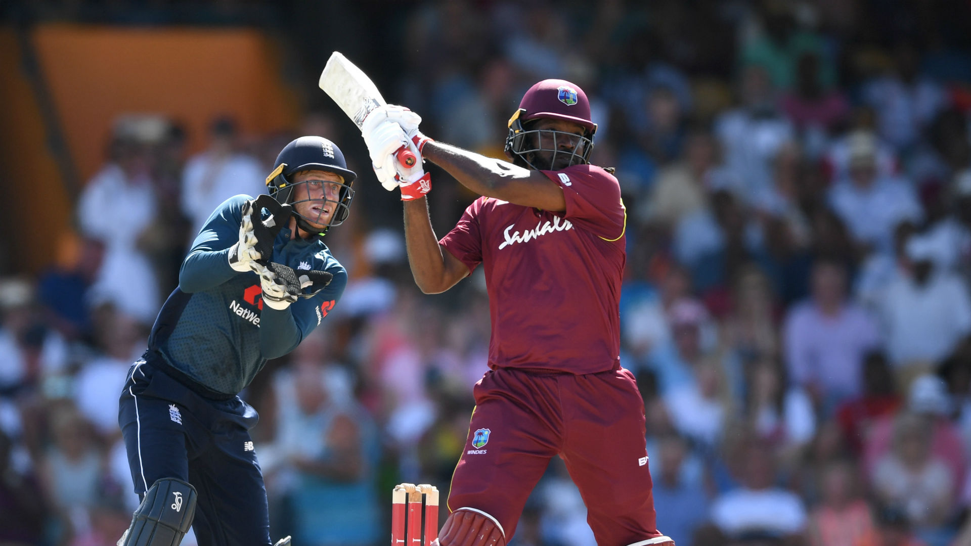 Chris Gayle's heroics see Wests Indies break record for number of sixes in an ODI innings