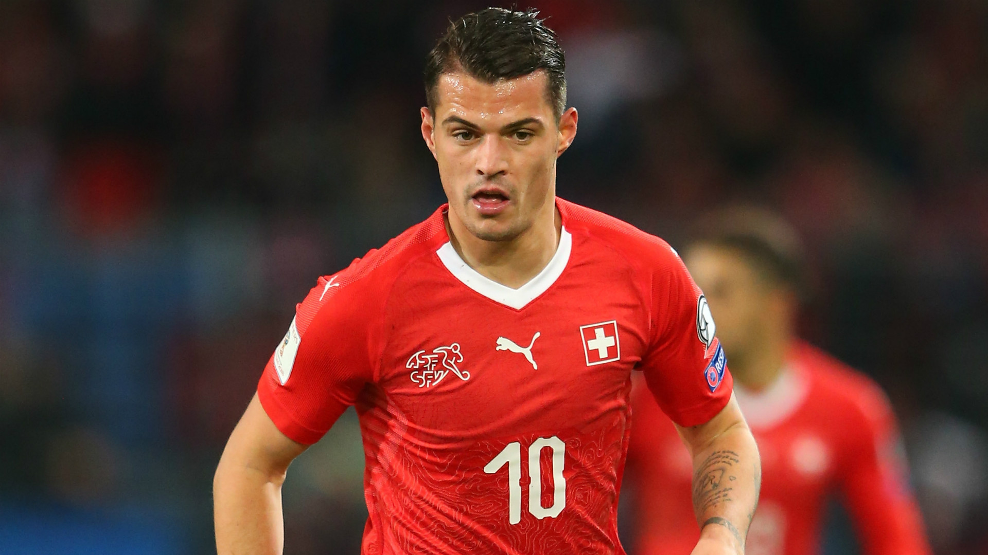 Arsenal midfielder Granit Xhaka relieved to escape serious injury