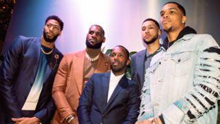 Rich Paul with Anthony Davis, LeBron James, Ben Simmons and Miles Bridges