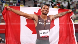 Andre De Grasse claimed the 200m title on Wednesday